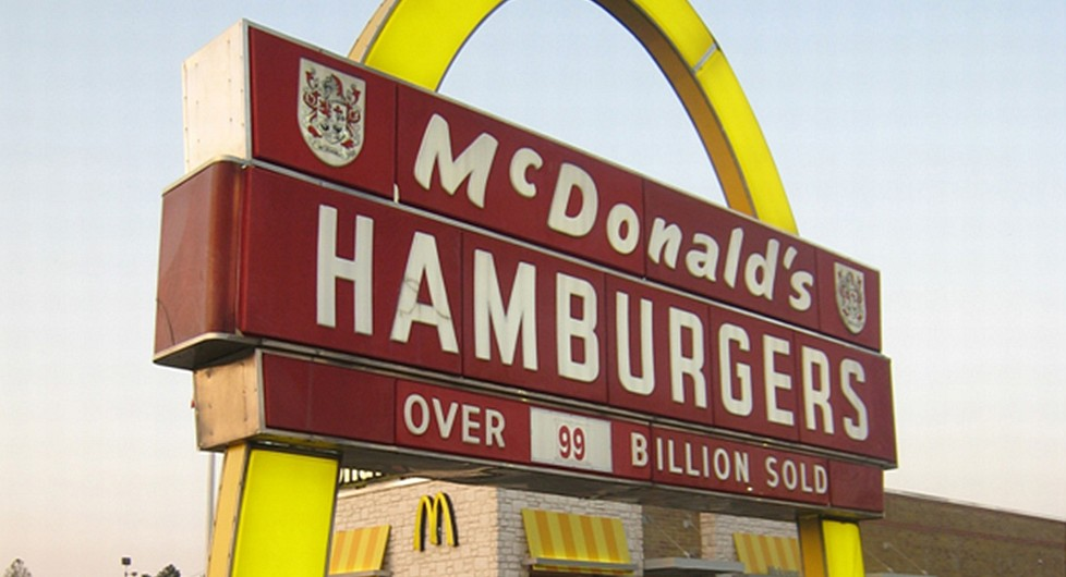 McDonalds sign showing over 99 billion sold