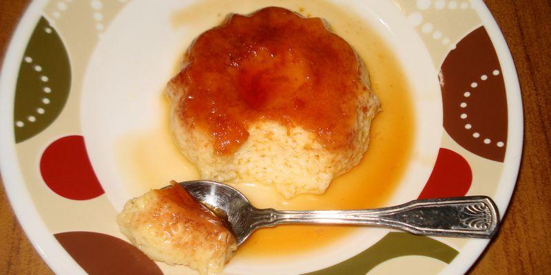 Pudding being eaten