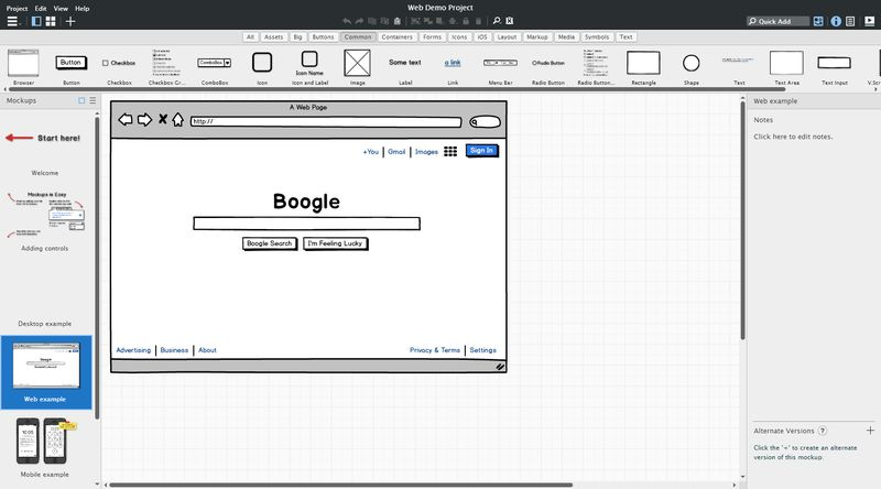 Balsamiq screenshot
