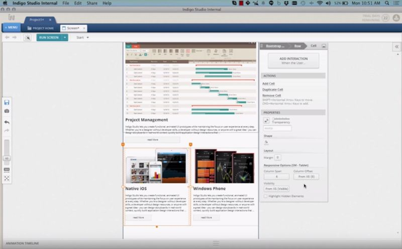Indigo studio screenshot