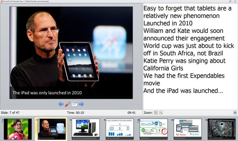 PowerPoint presenter view