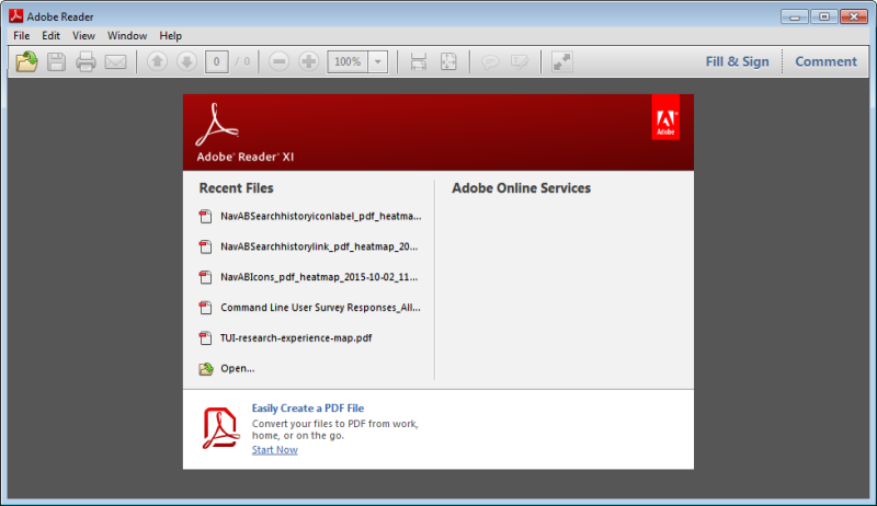 Adobe Reader screenshot