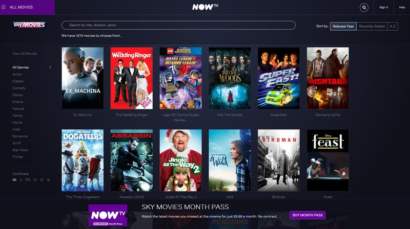 NowTV screenshot