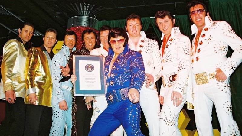 Group of Elvis impersonators