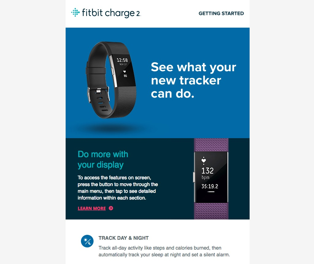 Fitbit introductory email