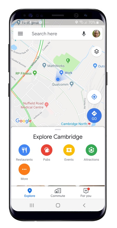 Google maps on mobile