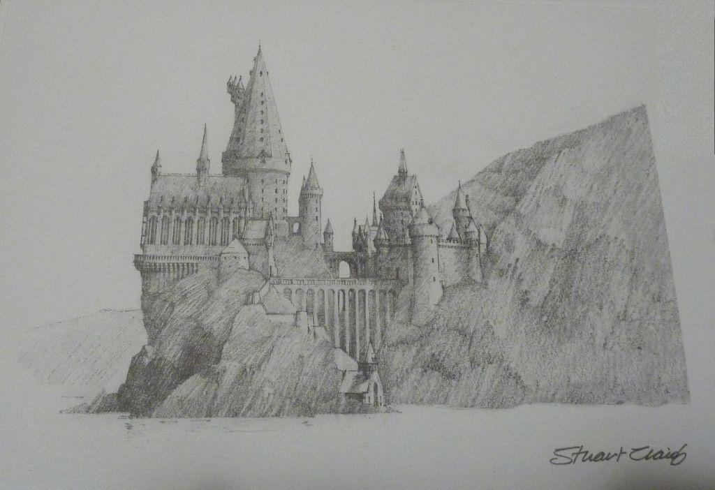 Hogwarts castle pencil sketch