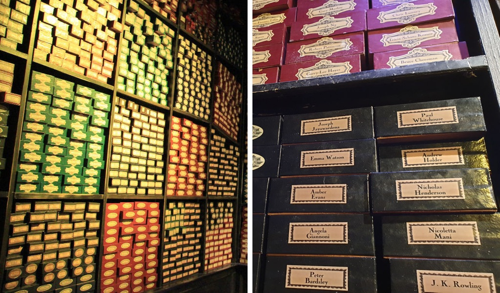 Wand room at Harry Potter studios tour