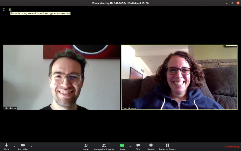 Zoom video call screenshot