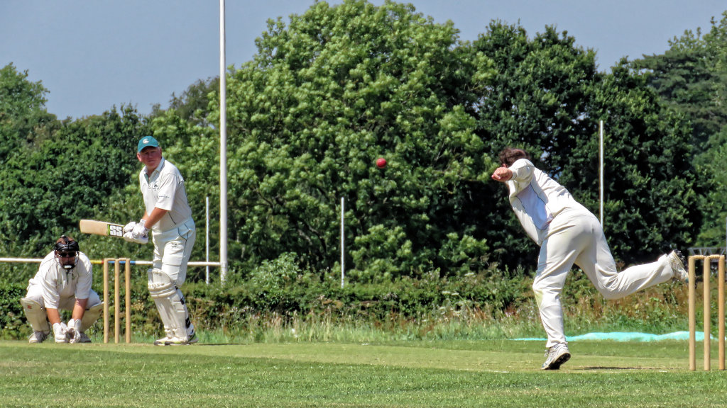 Bowler and batter in a game of cricket