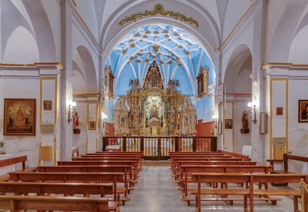 The interior of the Sanctuary of Mercy (Santuario de la Misericordia in Spanish) in Borja, Zaragoza, Spain