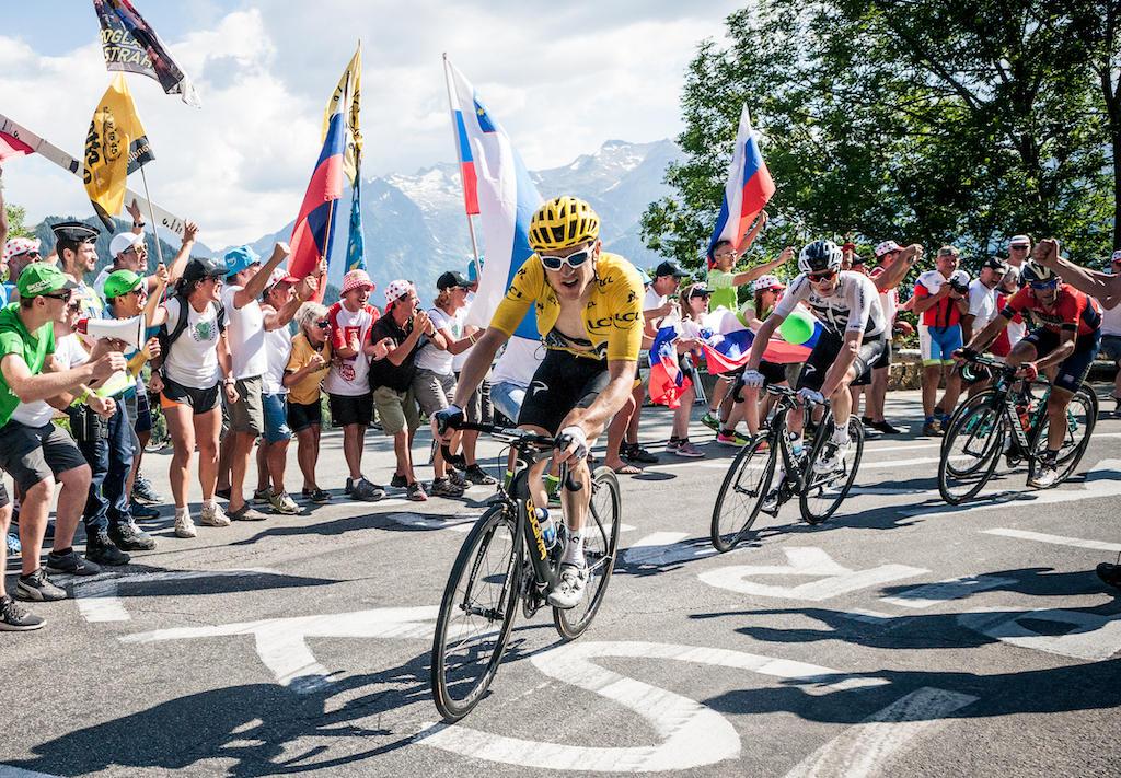 Cyclists in 2018 Tour de France