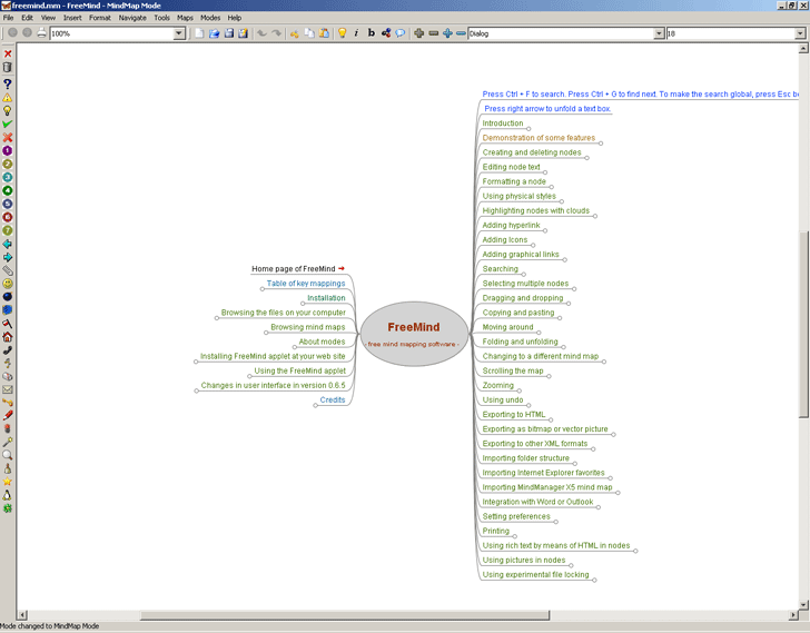 Freemind – A free mind mapping tool