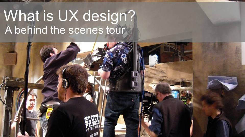 What is UX design? A behind the scenes tour