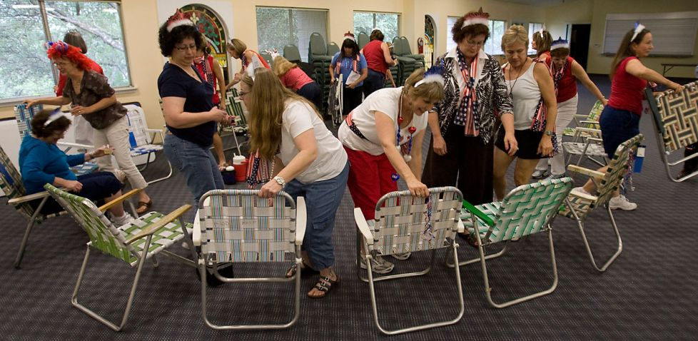 Group removing chairs