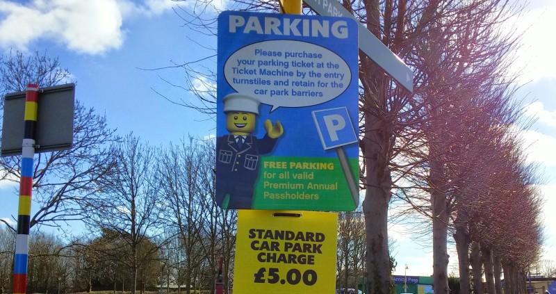 Legoland parking notice