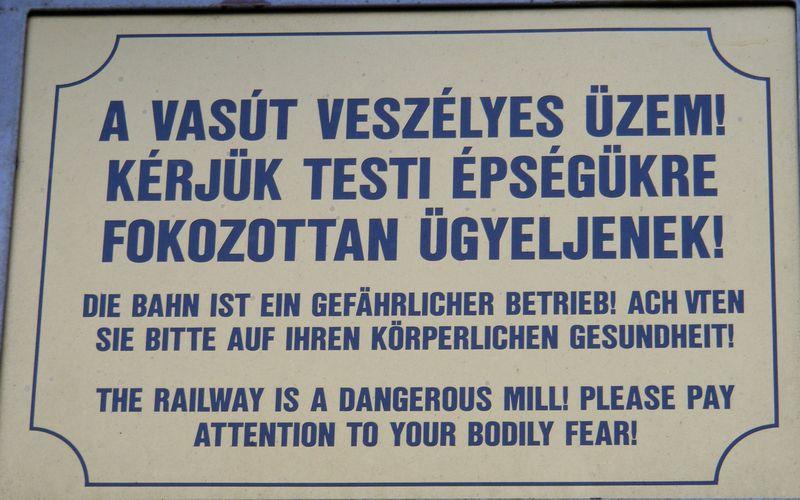 Sign showing poor English translation