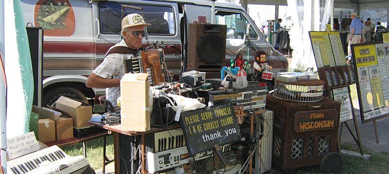 One mand band at a county fair