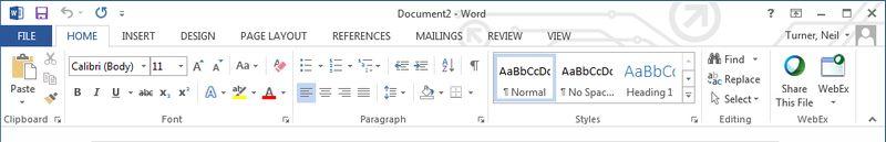 Microsoft Office ribbon