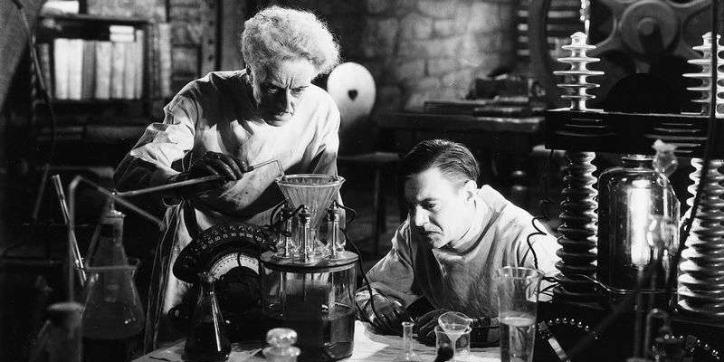 Two scientists working in the lab
