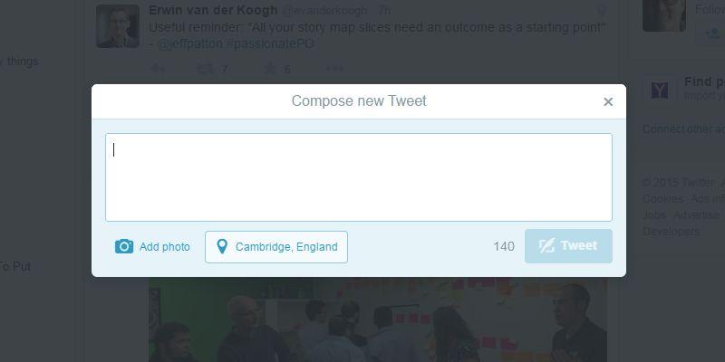 Twitter overlay screenshot