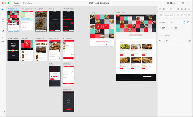Adobe XD screenshot