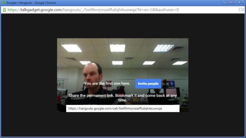Google hangouts screenshot