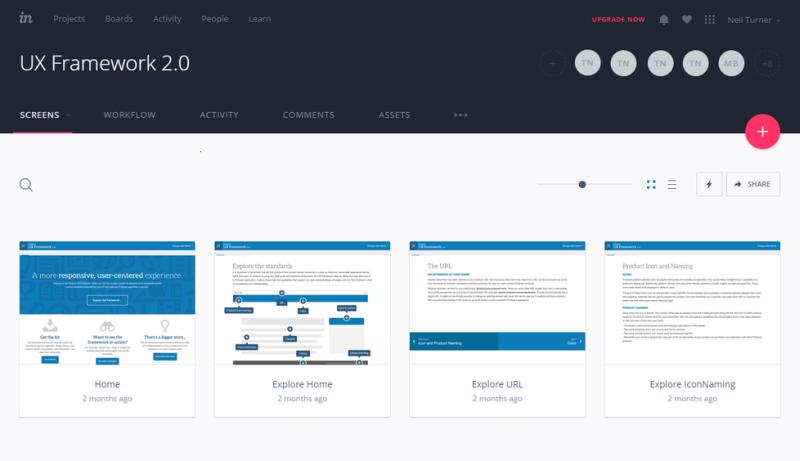 InVision screenshot
