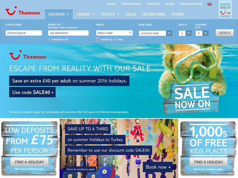 Thomson website