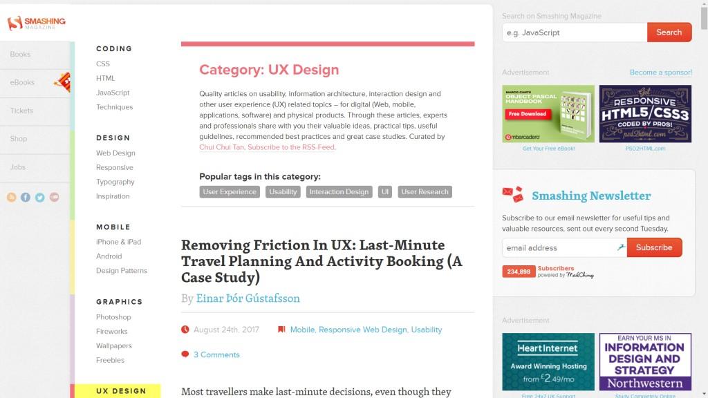 Smashing Magazine - UX Design
