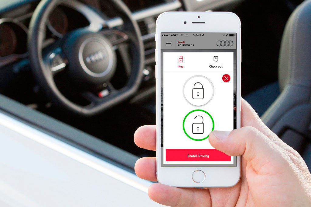 Mobile app for unlocking a car