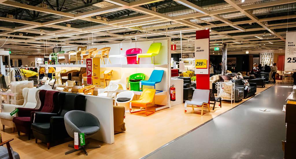Inside an Ikea store