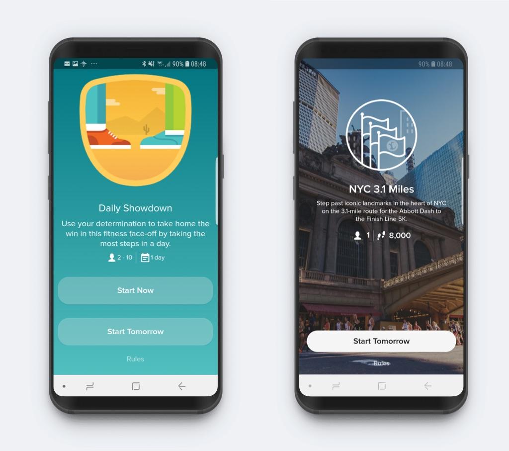Fitbit challenges screenshots