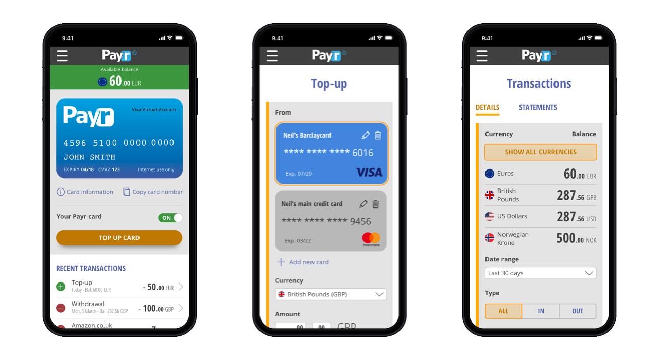 Mobile app screenshots