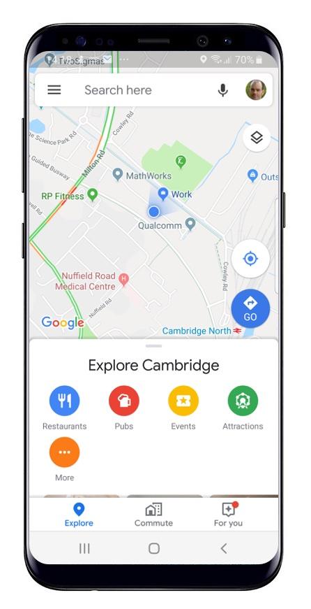 Google maps on mobile