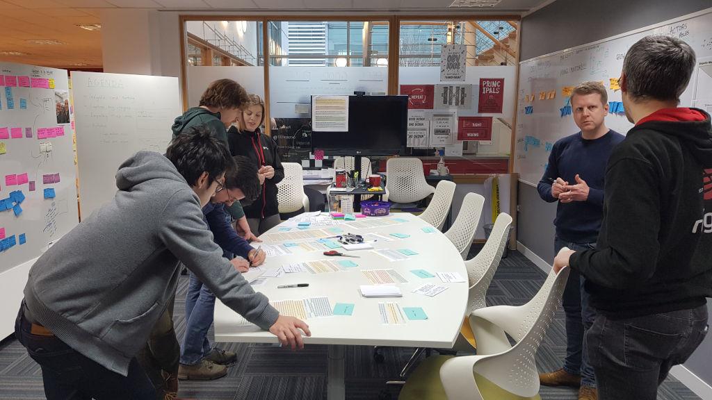A team in a design workshop